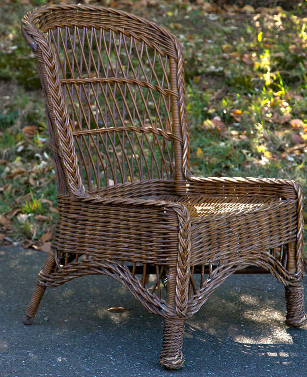 The Wicker Shop - Antique Wicker Side Chair - The Wicker Shop