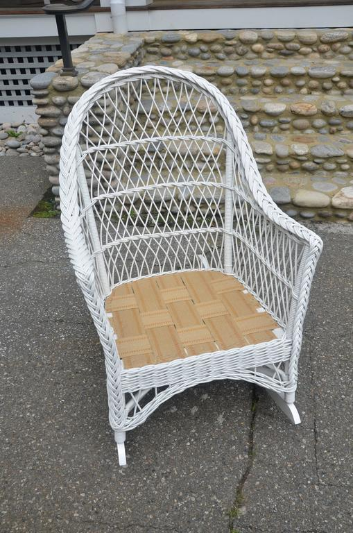 Vintage Bar Harbor Wicker Chair And Rocker The Wicker Shop