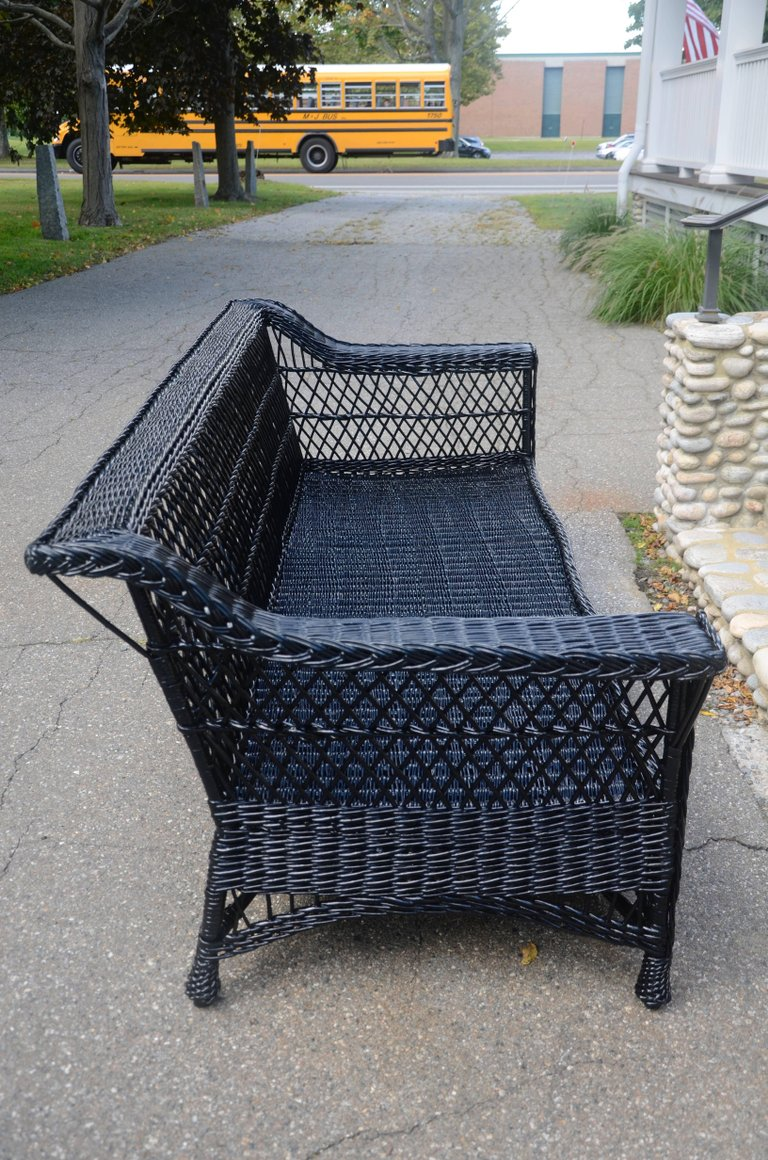 Antique Bar Harbor Willow Sofa The Wicker Shop