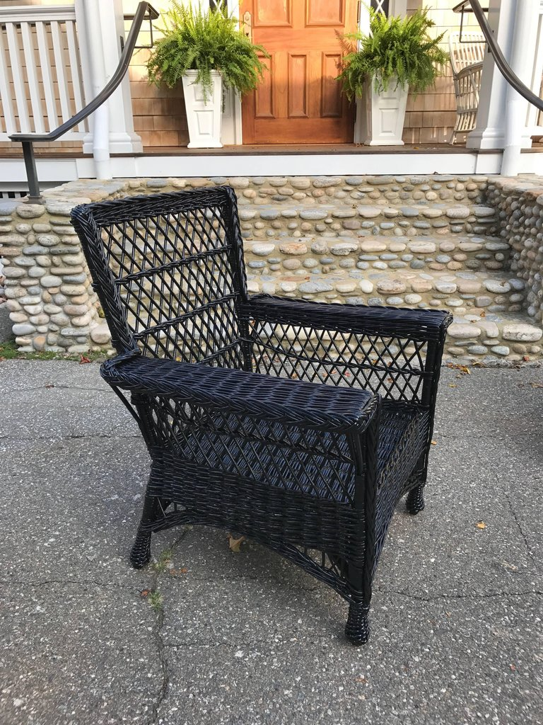 Antique Bar Harbor Wicker Willow Chairs The Wicker Shop